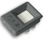 KON200 Botão de chamada liso, 3 leds 24 volts cinza