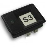 KON201 Botão de chamada gravado, 1 led 60 volts preto