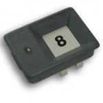 KON207 Botão de chamada gravado, 1 led 24 volts cinza