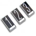 CLL749 Etiqueta Braille em alumínio para batente (35 x 70mm)