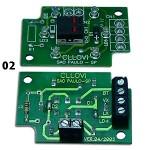 Placa para botão Cllovi Duplex c/ 03 bornes 01 (Qd. Eletrônico) Placa para botão Cllovi Duplex c/ 04 bornes 02 (Qd. Eletromecânico)