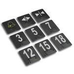 CLL751 Etiqueta Braille em policarbonato para botoeiras (24 x 28mm)