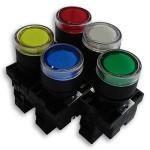 CLL931 Botão industrial luminoso (amarelo, azul,  branco, verde, vermelho) - furo 22mm