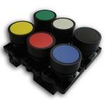 CLL930 Botão industrial (amarelo, azul, branco, verde, vermelho) - furo 22mm