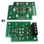 Placa para botão Cllovi 01 (Qd. Scanchip/Eletromecânico) ....... Placa para botão Cllovi 02 (Qd. Eletromecânico 127V) .............