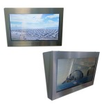 """014 Painel de aço inóx para monitor de LCD 17"""""""